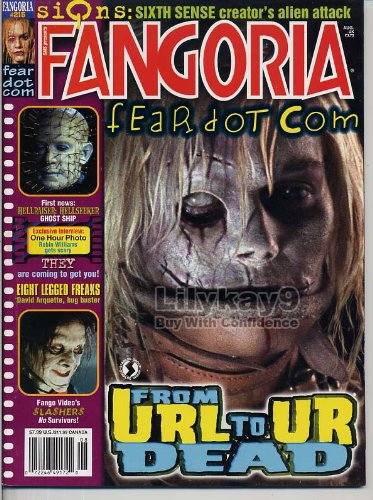 Fangoria Magazine 215 FEARDOTCOM Signs ONE HOUR PHOTO They TOURIST TRAP Reign of Fire June 2005 (Halloween Horror Nights Reviews)