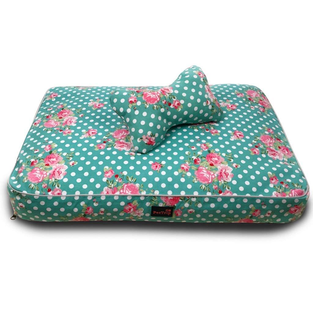 50×40×8cm pet bed Pet Mat, Large Dog Kennel Cat House Removable And Washable Nest Wear-resistant Bite Pet Bed (Size   50×40×8cm)