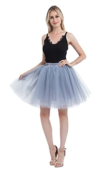 party train womens above knee high waist tutu tulle skirt adult dance petticoat for bridal shower