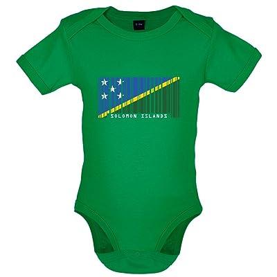 Îles Salomon / Solomon Islands - Drapeau Code Barre - Bébé-Body - 7 Couleur - 0-18 mois