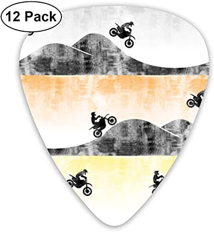 Motocross Dirt Bike Classic Picks de guitarra (paquete de 12) para ...