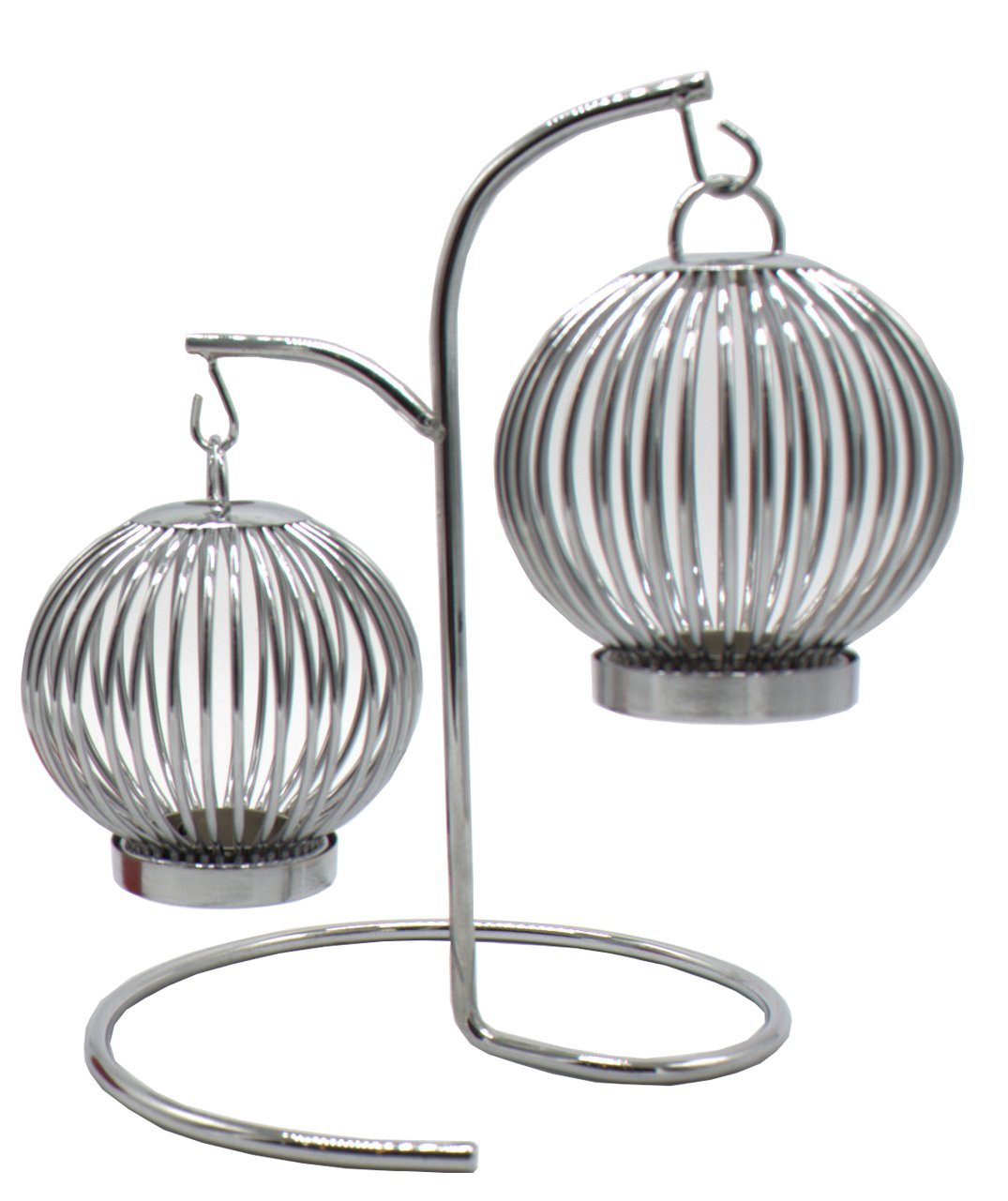 Baohao stainless steel double - head round lantern candlestick 7.88''x10.44''
