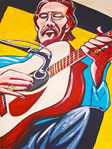 TONY RICE PRINT POSTER Country Bluegrass music Santa Cruz acoustic cd guitar record album lp FRO-ART
