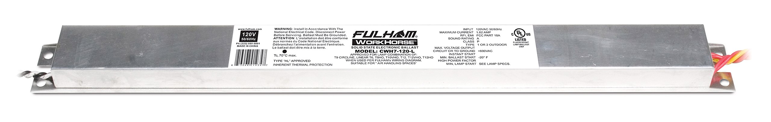Fulham Lighting CWH7-120-L Canada Series-Workhorse 7-120V-Linear Model with Side Leads