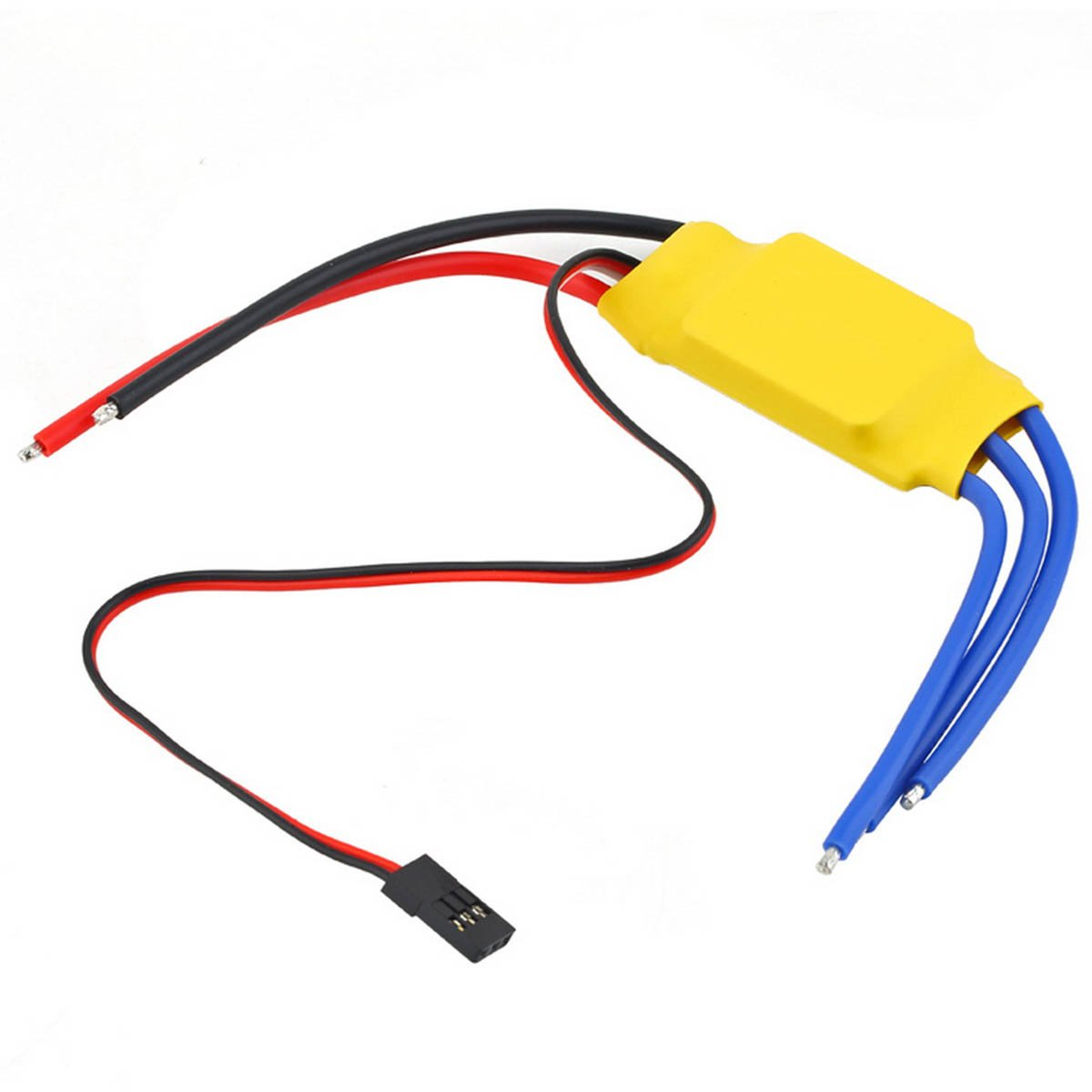 Amazon.com: 30A Brushless Motor Speed Controller RC BEC ESC T-rex 450 V2 Helicopter Boat plastic yellow, by LC Prime: Home Audio & Theater