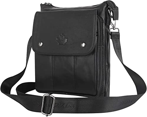 Mens Genuine Leather Shoulder Bag Crossbody Messenger Sling Bags Handbag Satchel