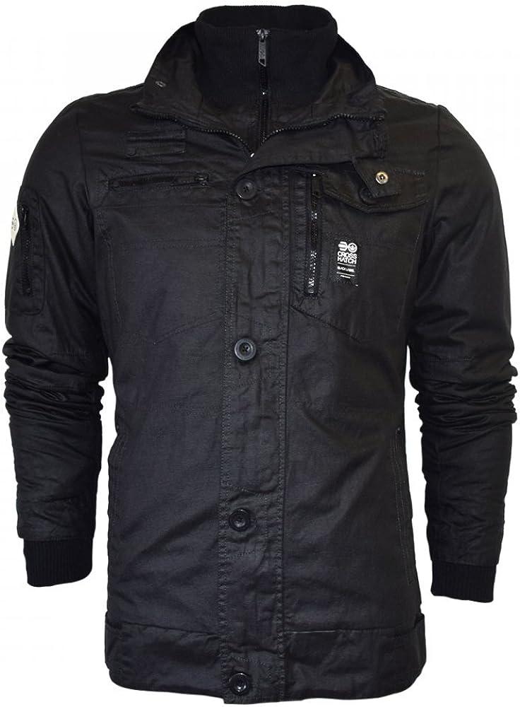 CrossHatch Herren Plixxie Neue Beschichtete Gepolsterte Jacke Zip Gerippter Winter Coat