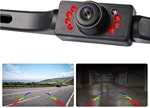 Car Rear View Camera High Definition Universal Auto Parking Reverse Vehicle Backup Camera with 170 Degree Viewing Angle Waterproof