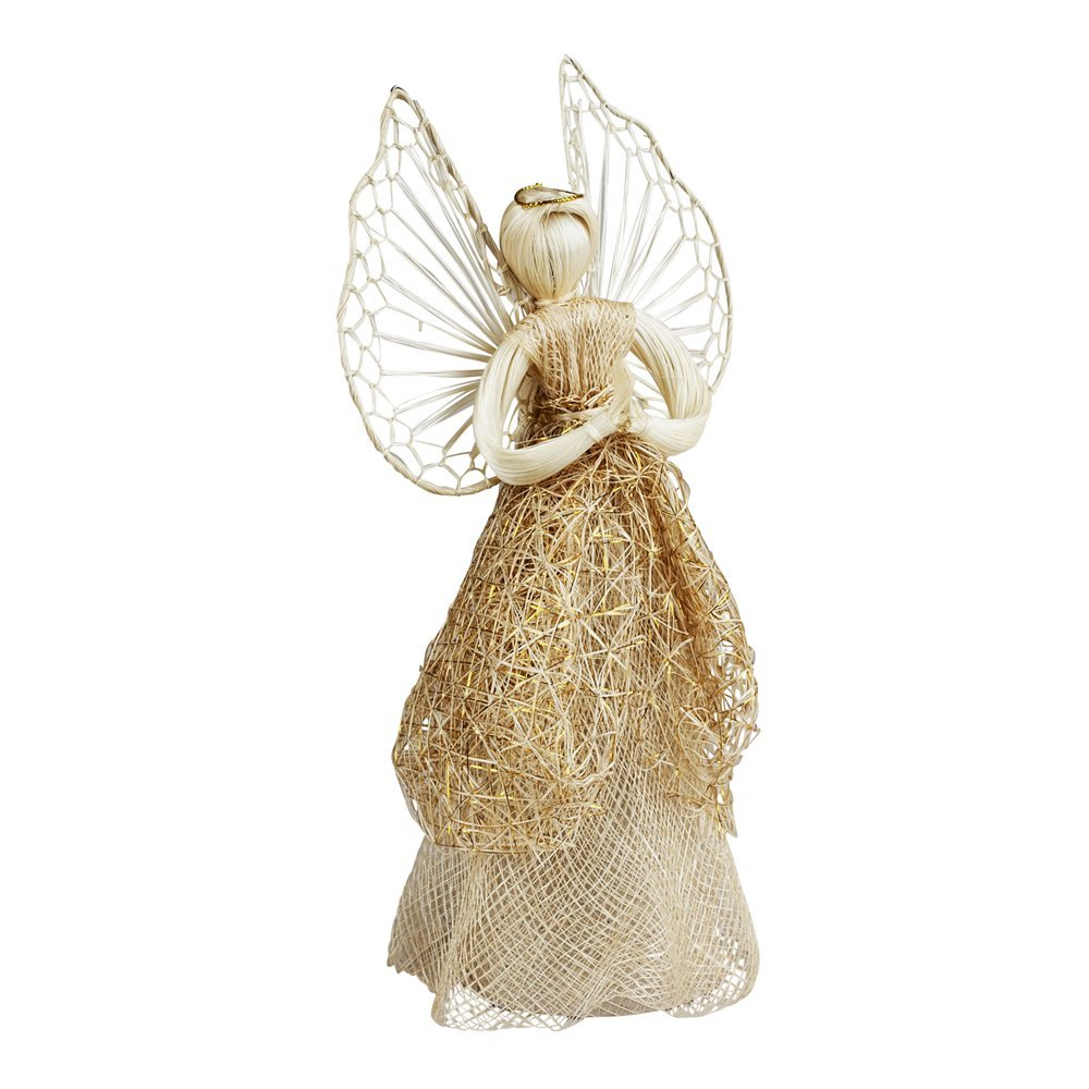 Ten Thousand Villages Sinamay Tree Topper Angel Community Crafts Association