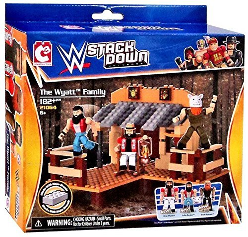 WWE Wrestling C3 Construction StackDown Playset #21064 The Wyatt Family by WWE Stack Down Universe Building Toy Sets
