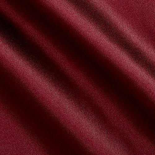 Logantex, Debutante Stretch Satin Rich Wine Fabric By The Yard
