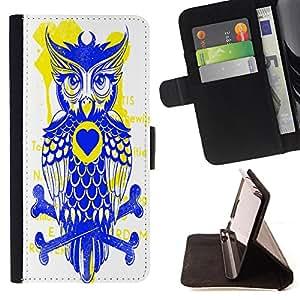 King Case - FOR Samsung Galaxy A3 - forward of the parrot - Prima caja de la PU billetera de cuero con ranuras para tarjetas, efectivo Compartimiento desmontable y correa para la mu?eca