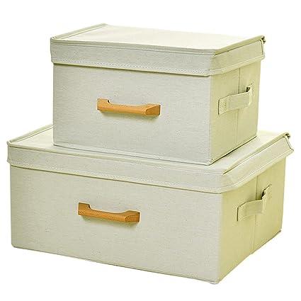 BOXLeader Caja de Superior Caja de 2 Pack Plegable Plegable Caja Organizador Plegable plástico Caja Cajas
