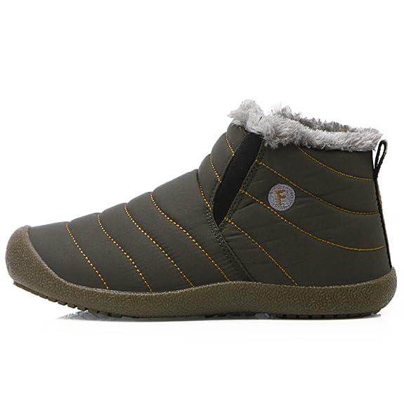 SITAILE Herren Damen Outdoor Knöchelhoch Slip On Komfort Boots Stiefel für Winter,Grau,39