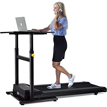 top selling Goplus Treadmill Desk Standing Walking Treadmill Electric Machine W/Tabletop Height Adjustable Treadmill Workstation Perfect for Office & Home