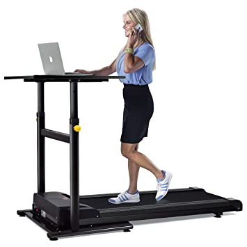 Awesome Goplus Electric Treadmill Desk Standing/ Walking Machine W/ Tabletop Height  Adjustable Perfect For Office