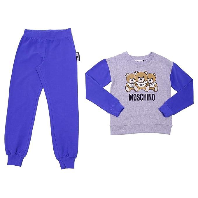Moschino Teen Boy Tuta Blu in Felpa MOD. HUK01DLDA0340931T 14A  Amazon.it   Abbigliamento 81fb0301d44