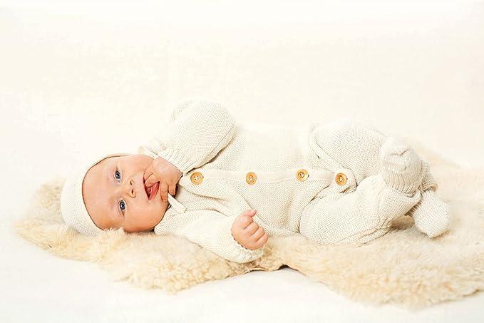 Disana Baby Strick-Overall Bio-Merinowolle