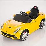 フェラーリ F12 ベルリネッタ 電動乗用車 イエロー / 親子で遊べる 乗れるラジコンカー