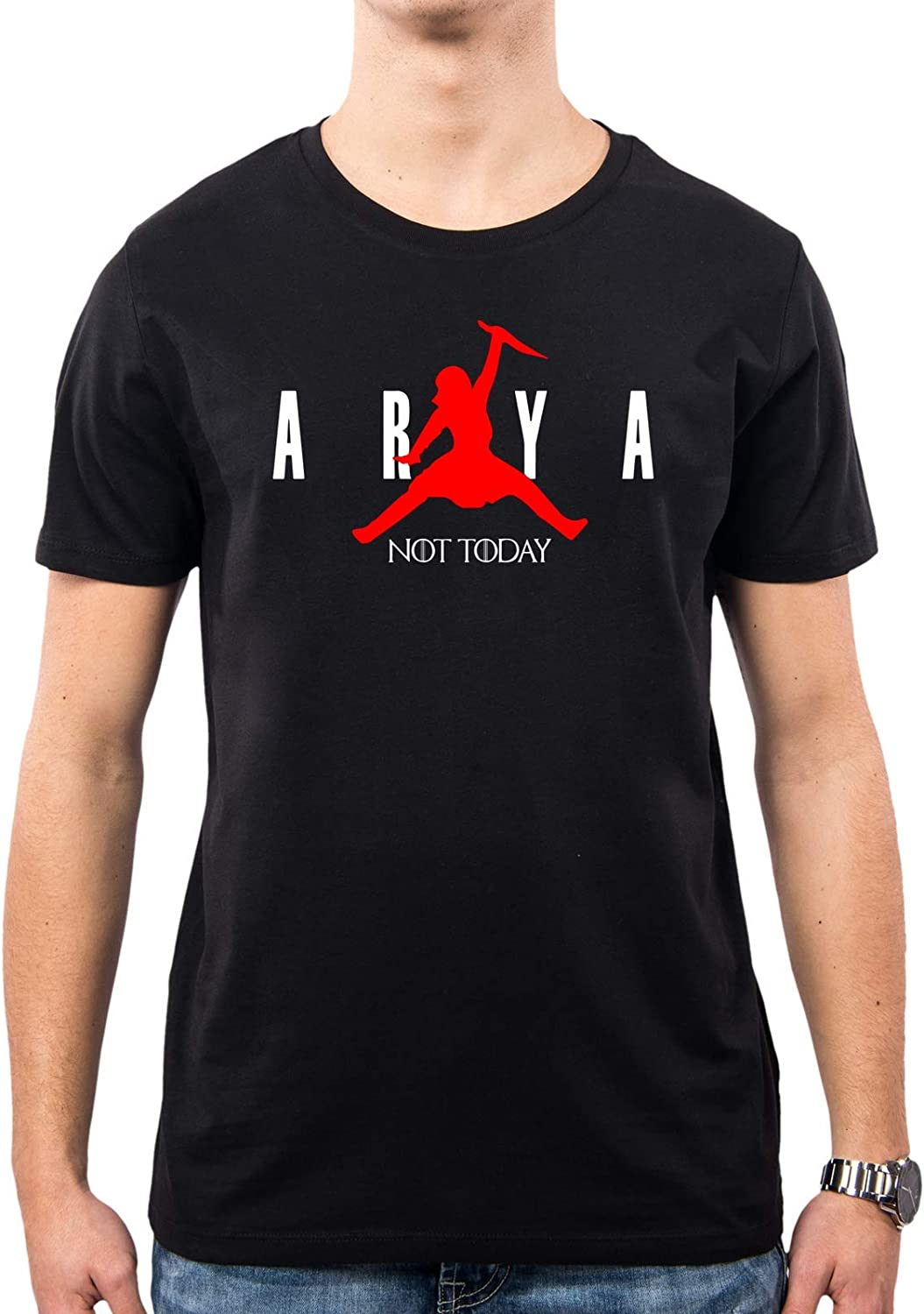 PACDESIGN T-Shirt Uomo Game of Thrones Arya Stark Not Today Got 8 Il Trono di Spade Serie TV PD1575A
