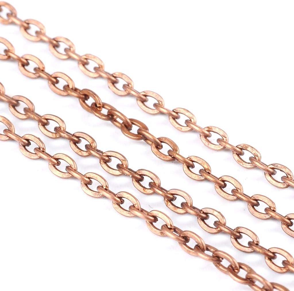 /Consegna Gratuita/ LA BOUTIQUE DE KARINE 2/Metri di Catena Metallo Rame 5/x 3/mm/ /Creation Perline