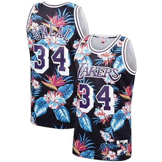 Wq zxc Retro Jersey # 34Shaquille Oneal Bordado Baloncesto Jersey ...
