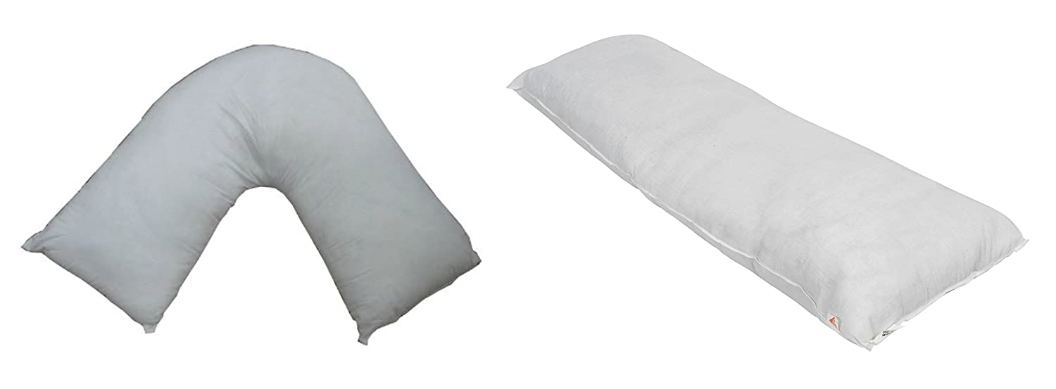 Love2Sleep GREAT VALUE V PILLOW AND 4 FT BOLSTER MATERNITY PILLOW SMALL DOUBLE BED ORTHAPEDIC BUNDLE!