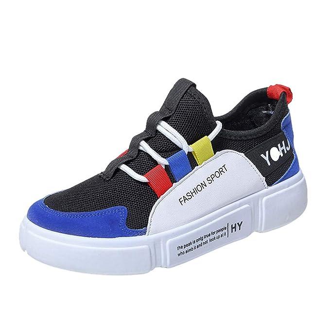 Zapatillas de Running para Mujer,JiaMeng Zapatos de Moda Casual con Cordones de Suela cómoda y Calzado Deportivo: Amazon.es: Ropa y accesorios