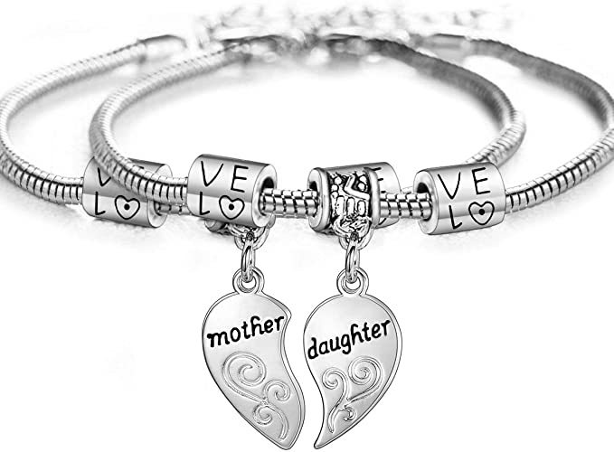 Personalised Wish Bracelet Mum Mother Mummy Mother/'s Day Heart Love Family Gift