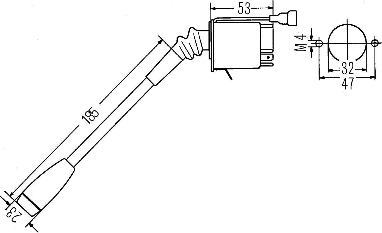 HELLA 6TA 003 394-001 Steering Column Switch