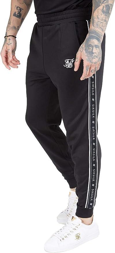 Sik Silk SS-15427 Panel Tape Jogger - Black & White: Amazon.es ...