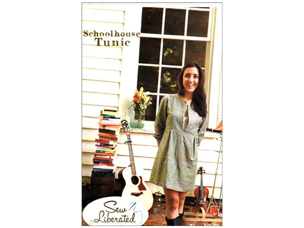 Amazon.com: Sew Liberated Patterns-Schoolhouse Tunic Sewing Pattern ...