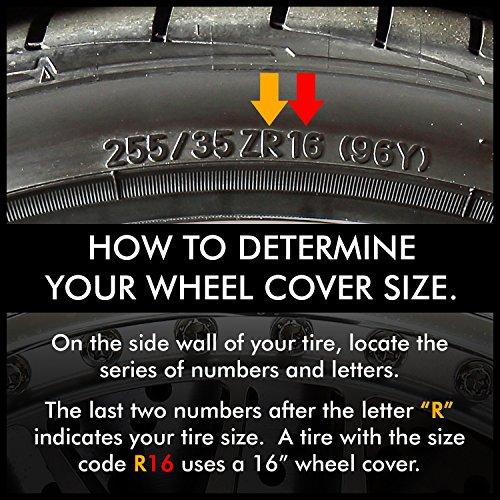 pilot wh  bs universal fit spyder blacksilver finish   wheel covers set