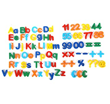 Mixed24 Magnet Buchstaben Zahlen Symbole Abc Alphabet Kinder