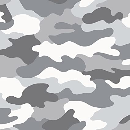 9290a552 Grey Camouflage Wallpaper - WOW010 - - Amazon.com