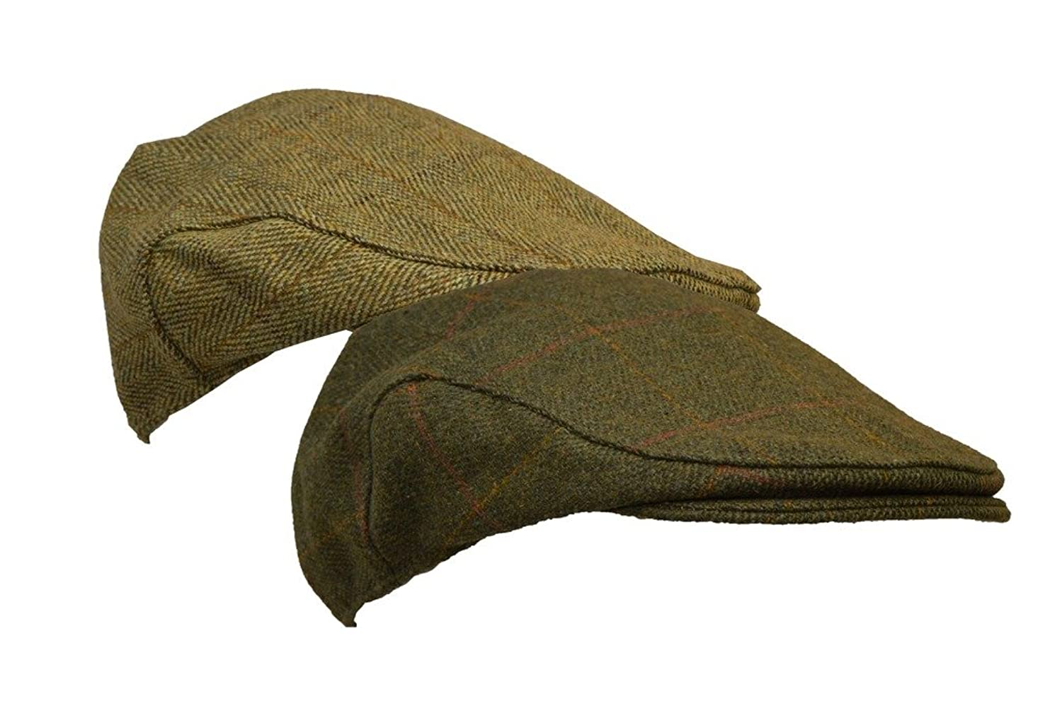 Men's Vintage Style Hats Derby Tweed Flat Cap Hunting Shooting Countrywear Hat $22.02 AT vintagedancer.com
