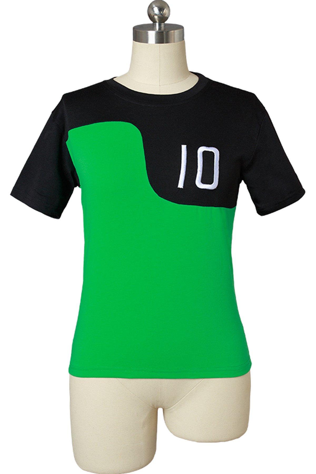 NoveltyBoy Ben 10 Jacket Aliens Force Kids Boys Cosplay Benjamin Irby Tennyson Ten Green Jacket T-Shirt (Age 6-8, T-Shirt)