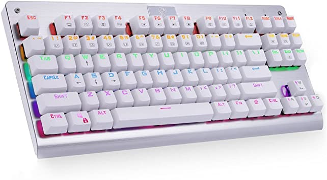 ZUEN Keyboard Game Keyboard 87 Keys Mechanical Lighting Green Axis Esports Home Black