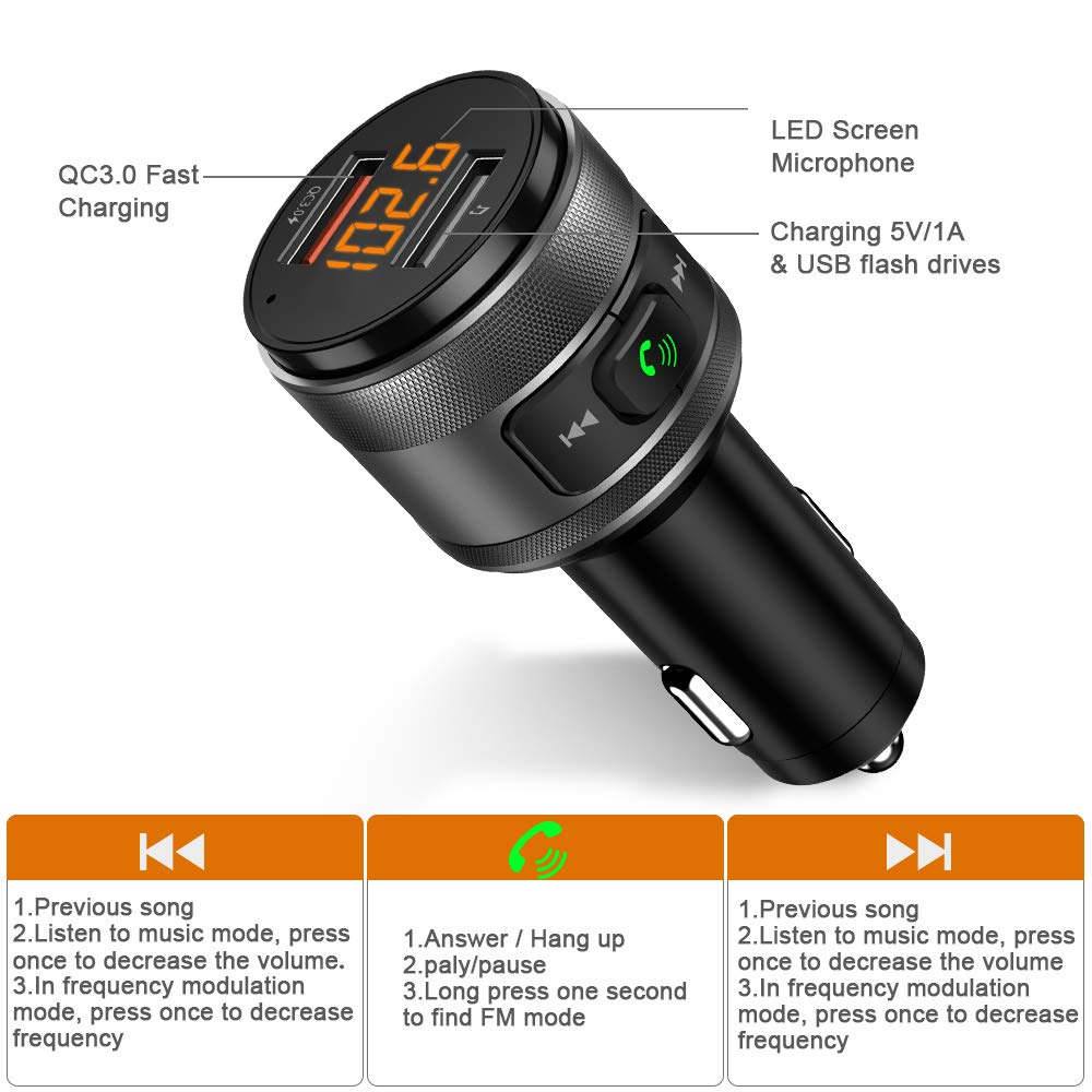 Bluetooth Fm Transmitter Wireless Radio Adapter Elektronik Superlinear Frequency Modulator