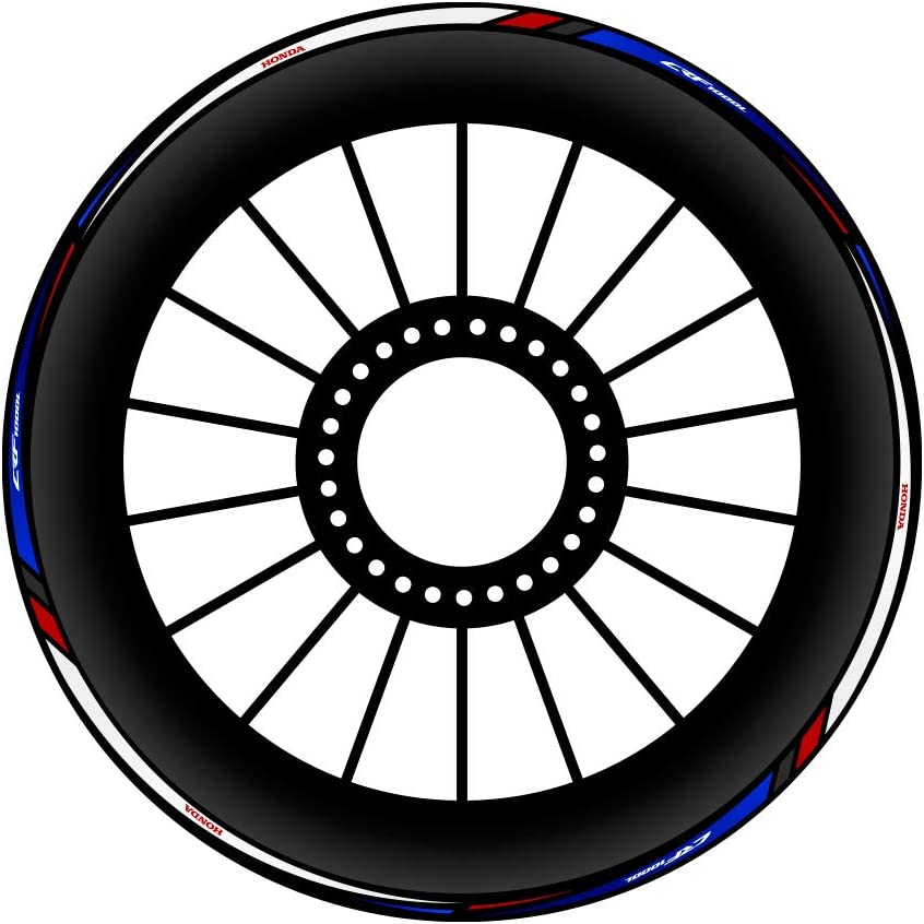 Blue /& Red KIT ADHESIFS pour Cercles Africa Twin CRF 1000 L CI-005