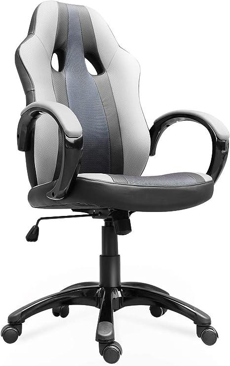 Adjustable High Back Swivel Office Chair Leather Ergonomic Computer Desk Seat