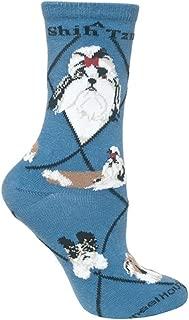 product image for Wheel House Designs Shih Tzu Womens Argyle Socks (Shoe size 6-8.5)