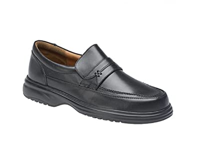 7820e827acf Roamers MITCH Mens Leather Wide Fit Penny Loafers Black  Amazon.co.uk  Shoes    Bags