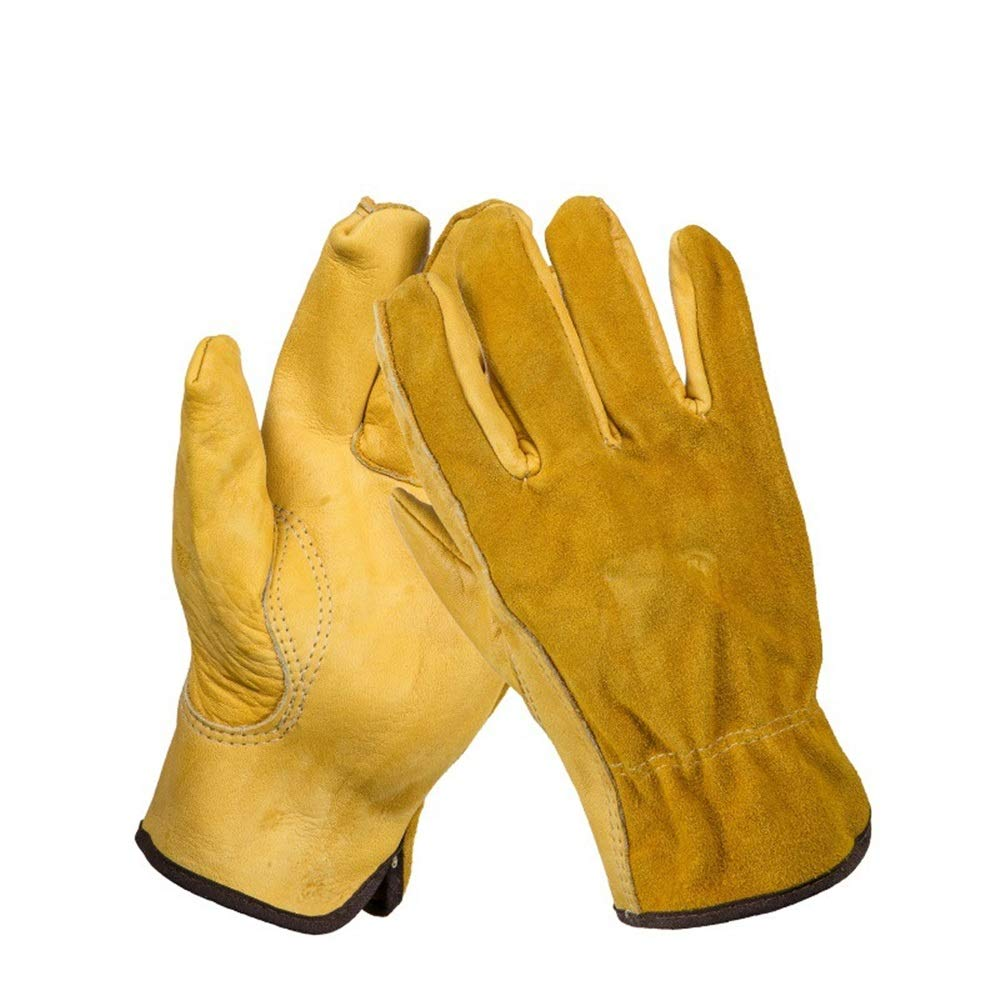 Easy to Assemble 1Pair Leather Garden Gloves Working Protection Gloves Security Garden Labor Gloves Wear Safety Tools (Color : L) by Tuersuer (Image #6)