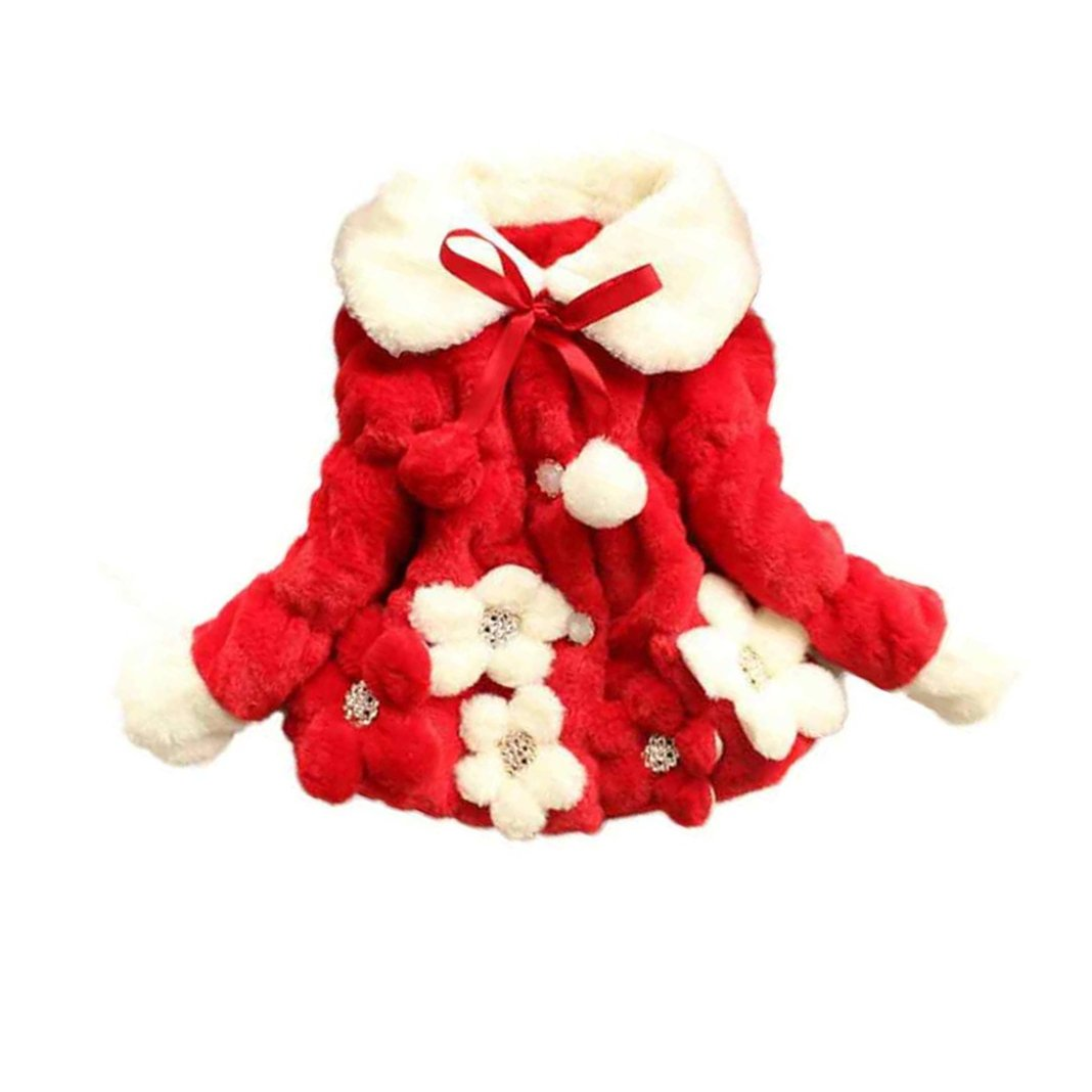 Kingko 0~24 Months Baby Girls Infant Winter Outwear Warm Coat Jacket Toddler Thick Snowsuit Clothes For Autumn Winter