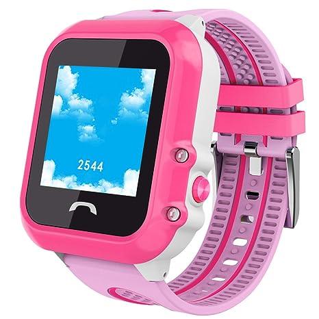 SmartWatch para le Niñas de los niños relojes bluetooth con GPS Tracker AGPS + lbs posición ...