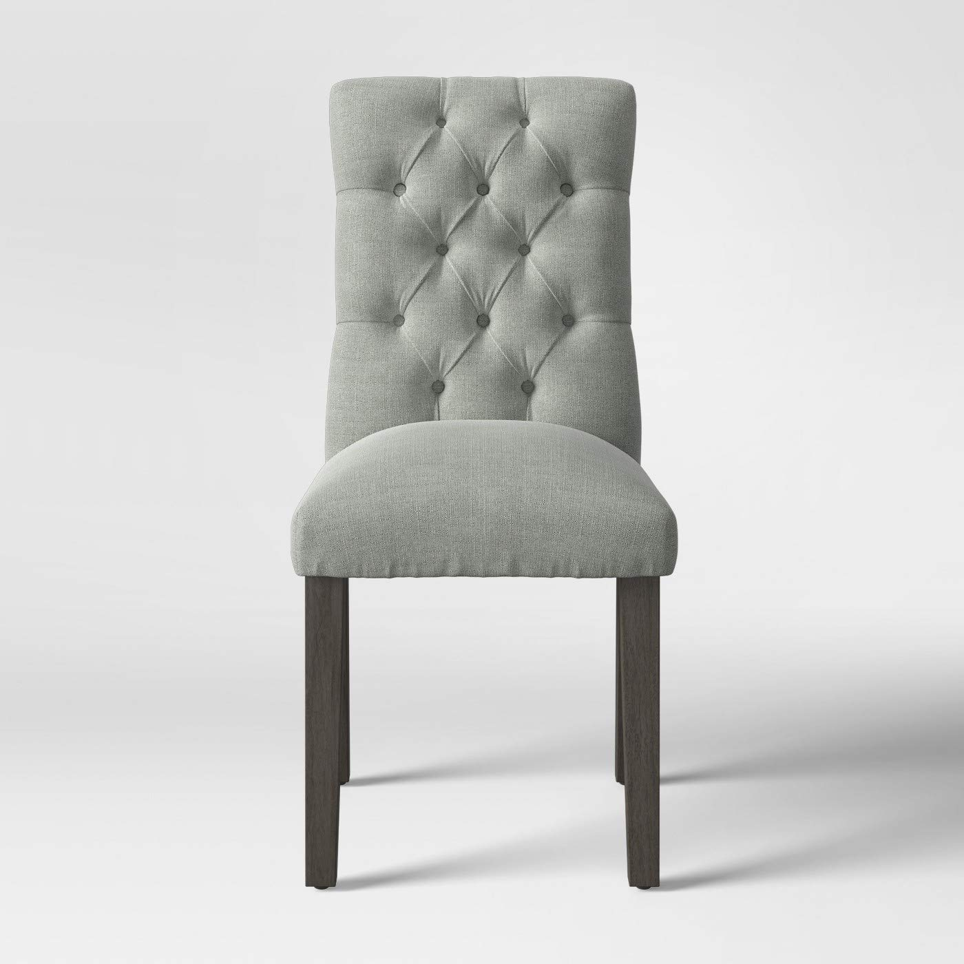 Phenomenal Amazon Com Threshold Brookline Tufted Dining Chair Gray Ibusinesslaw Wood Chair Design Ideas Ibusinesslaworg