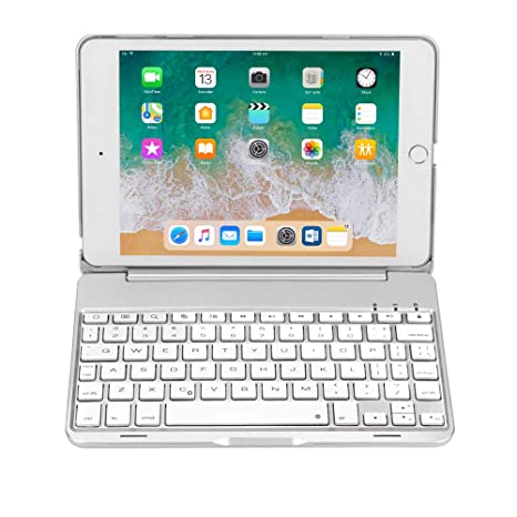 b14611f98cb iPad Mini 4 Keyboard (NOT for Mini 5th Generation 2019) - 135 Degree Flip -  7 Color Backlit - Auto Sleep/Wake - Ultra-Thin Keyboard Case for Apple iPad  Mini ...