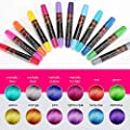 NANW 12 Color Temporary Hair Chalk, Hair Pens Crayon Salon Non-toxic Washable Hair Dye Safe for Cosplay Birthday New Year Christmas Gift for Kids Girls Teen Adults