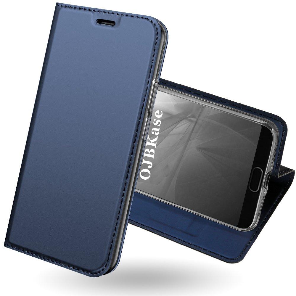 OJBKase Funda Huawei P20, Premium Piel sinté tica Billetera Carcasa Protectora Cartera y Funda Cubierta Interior TPU [Soporte Plegable] Protecció n De Cuerpo Completo Case para Huawei P20 (Gris Oscuro) OJBK-DD-PU-0522055